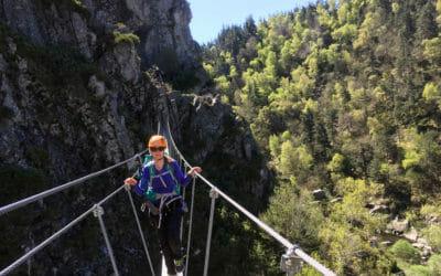 Via Ferrata du Malzieu en Lozère : une des plus belles de France
