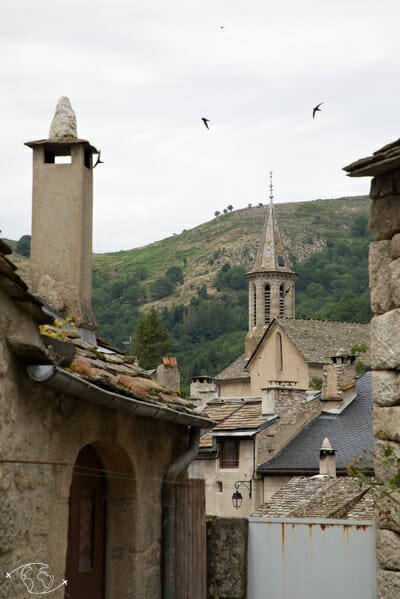 Chemin de Stevenson - Vue de l église de Pont de Montvert