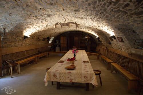 Ancienne bergerie - lieu de dégustation de la ferme - Hermilix - St Affrique