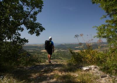 Randonnée Larzac : au dessus de St Jean des Fonds