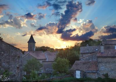 Randonnée Larzac - Coucher de soleil sur Viala-Pas De-Jaux