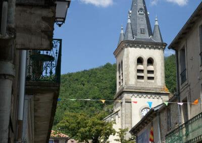 Randonnée Larzac - Eglise de Cornus