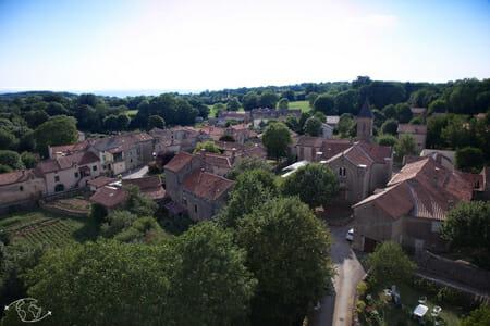 Randonnée Larzac - Viala-pas-de-jaux - Vue de la tour du Viala