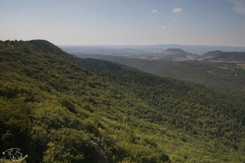 Randonnée Larzac - Vue sur les Causses du Rocher au Lion