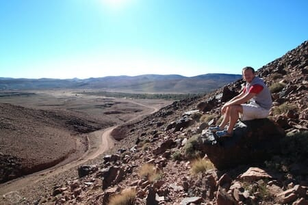 A l'Entrée du désert du Sahara