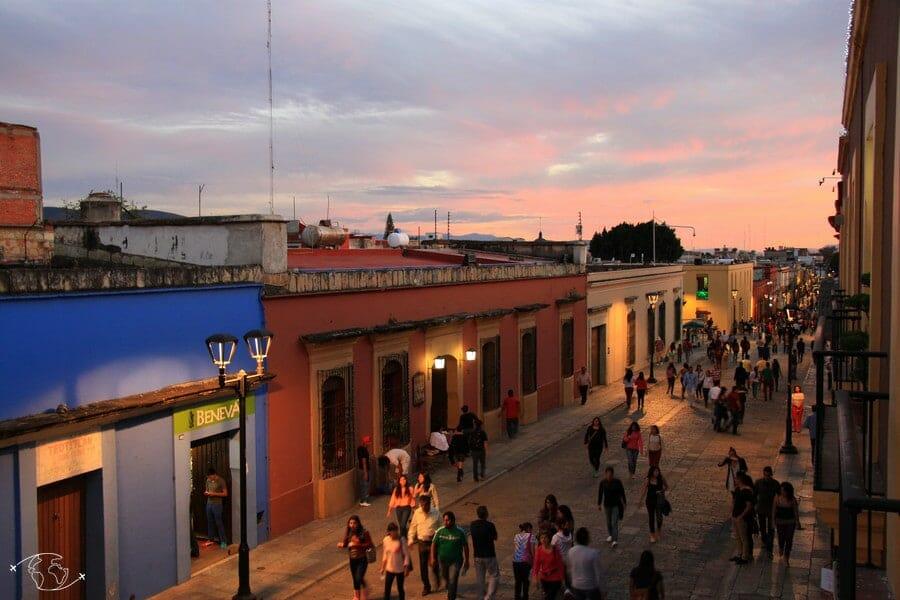 Que visiter au Mexique ? Coucher de soleil sur Oaxaca