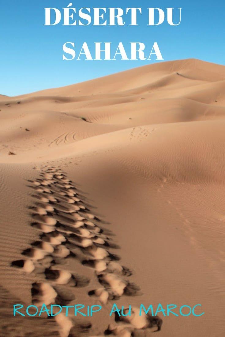 Visiter le désert du Sahara : un rêve qui peut vite devenir réalité dans le magique Sahara marocain | Roadtrip, infos pratiques et bons moments #maroc #sahara #desert #roadtrip #excursion
