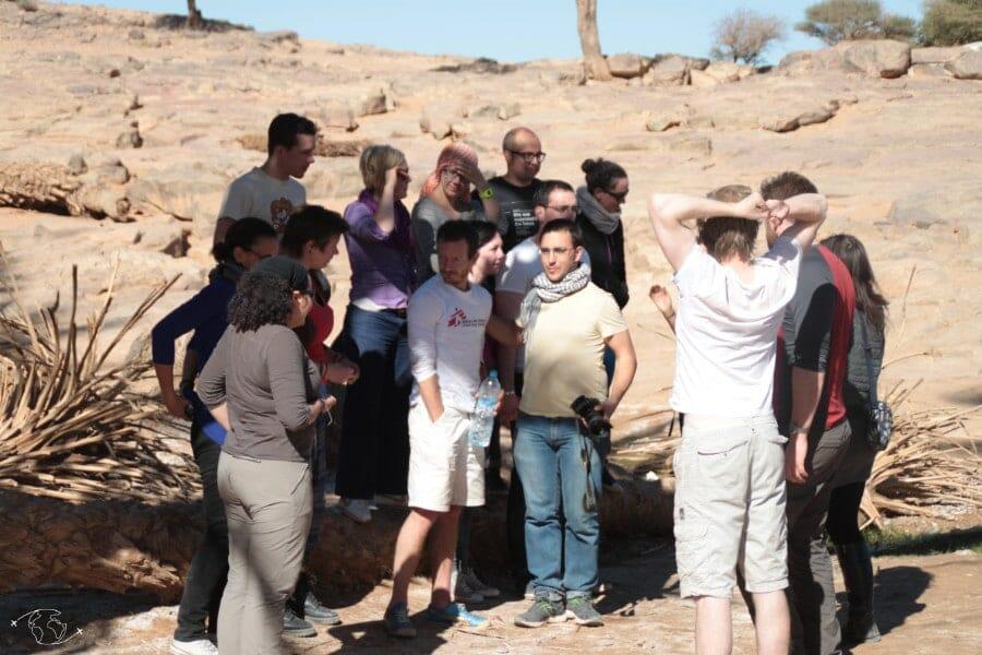 L'équipe du voyage dans le désert du Sahara