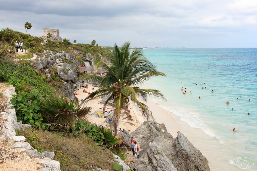 Que visiter au Mexique ? Plage du site archéologique de Tulum