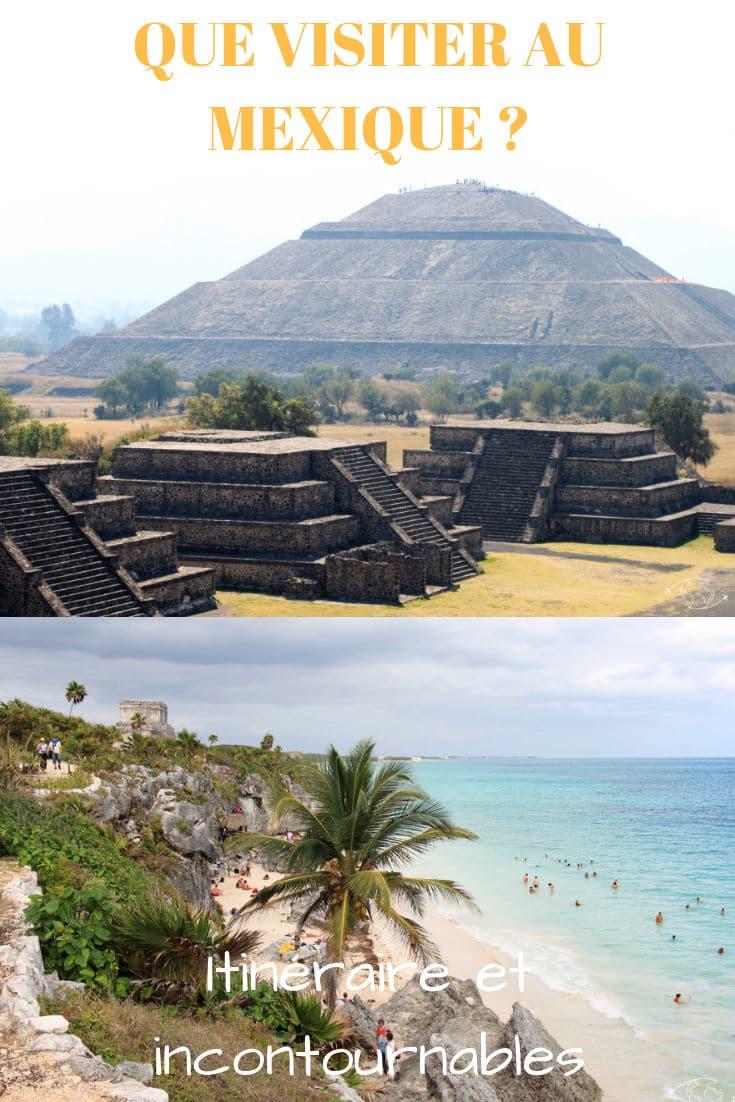 Que visiter au Mexique en 15 jours ? Vous trouverez ici une idée d'Itinéraire, les Sites Incontournables à voir au Mexique et mes Conseils de Voyage. #Mexique #itineraire #pyramides #incontournables #roadtrip #conseils