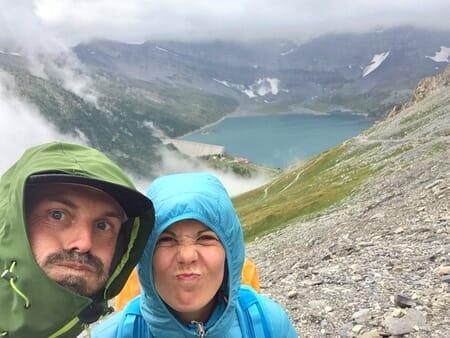 Louisa et moi les randonneurs du Tour des Dents du Midi