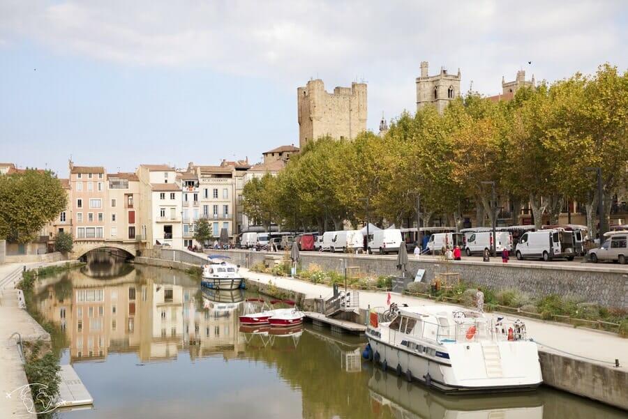 Visiter Narbonne - Canal Robine et Pont des Marchands