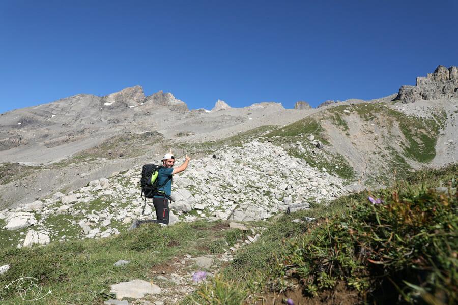 Randonnée suisse - Dents du Midi en allant vers le Refuge