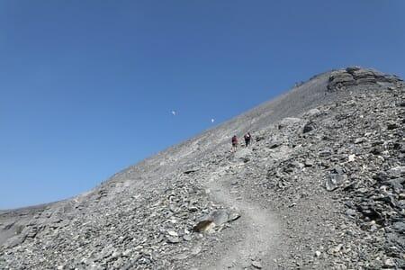 Randonnée suisse - En grimpant vers la Haute Cime - Tour des Dents du Midi