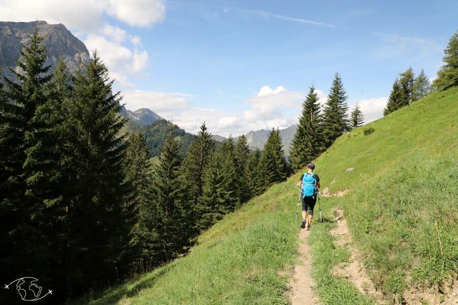 Randonnée suisse - Entre Bonavau et la Cabane d'Anthème