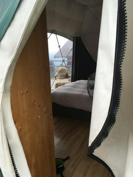 Entrée d'un pod - Whitepod - Monthey