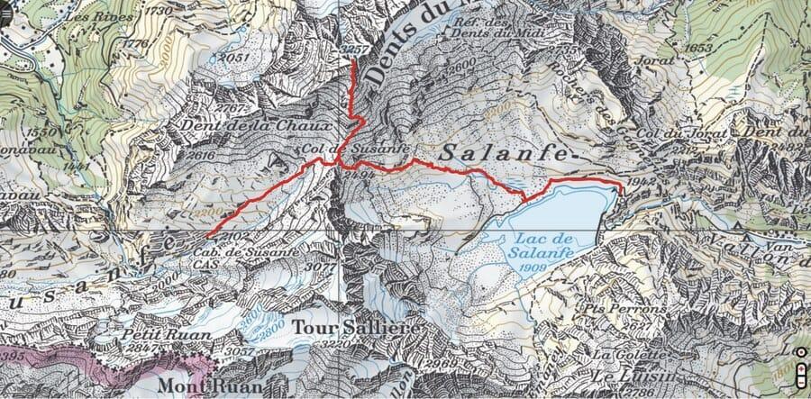 Tour des Dents du Midi - Etape 1 - Cabane de Salanfe - Haute Cime - Cabane de Susanfe - Randonnée suisse