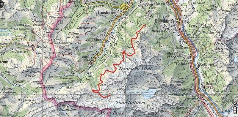 Tour des Dents du Midi - Etape 2 - Cabane de Susanfe - Cabane d'Anthème - Auberge de Chindonne