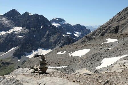 Randonnée suisse - Face au Ruan - Montée vers le Refuge des Dents du Midi