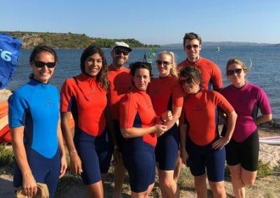 L'équipe du kayak à Port Mahon