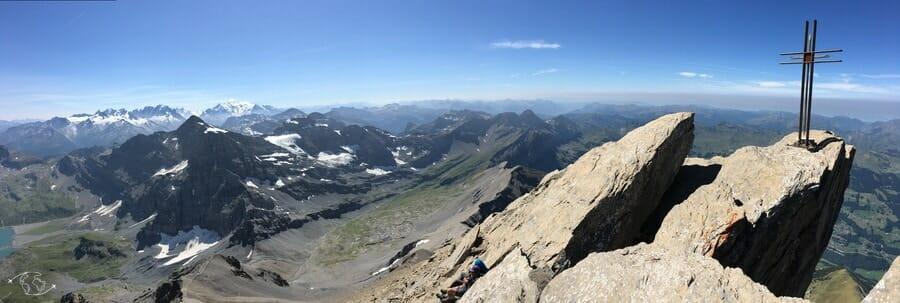 Randonnée suisse - Panorama au sommet de la Haute Cime