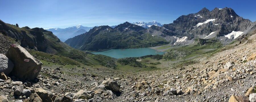 Randonnée suisse - Panorama sur le Lac de Salanfe et ses Montagnes