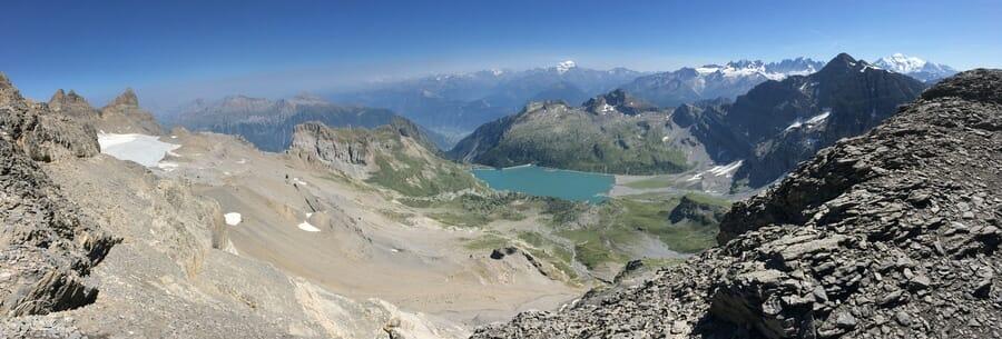 Randonnée suisse - Panorama vue de la Haute Cime