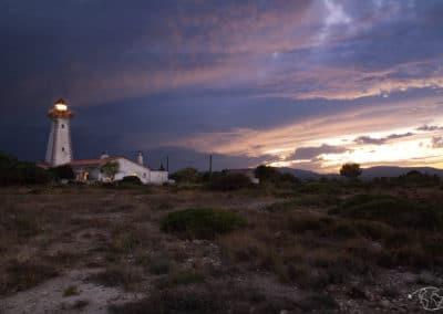 Coucher de soleil au phare de Leucate