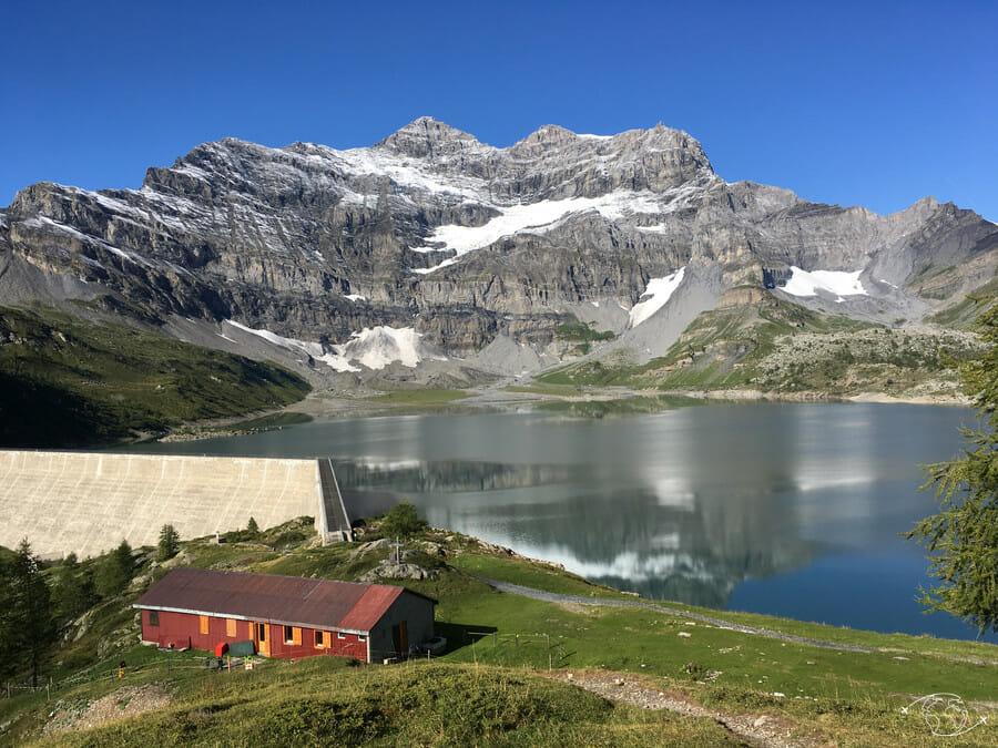 Randonnée suisse - Superbe vue du Lac de Salanfe