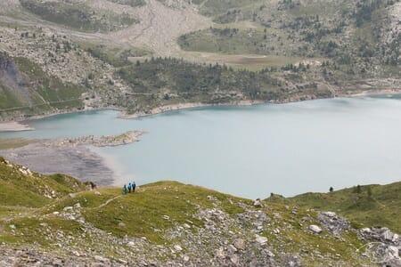 Randonnée suisse - Tour du Luisin - Arrivée au Lac de Salanfe