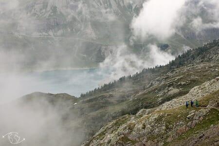 Randonnée suisse - Tour du Luisin - Col d'Emaney vers Salanfe