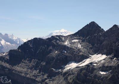 Randonnée suisse - Vue sur le Mont Blanc