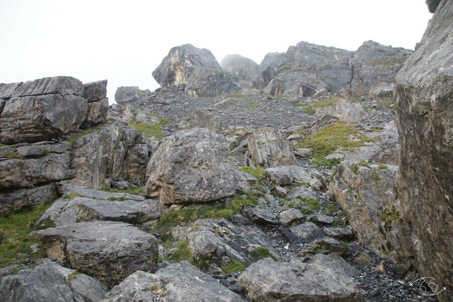 Au dessus du Refuge du Grenairon - Tour du Ruan