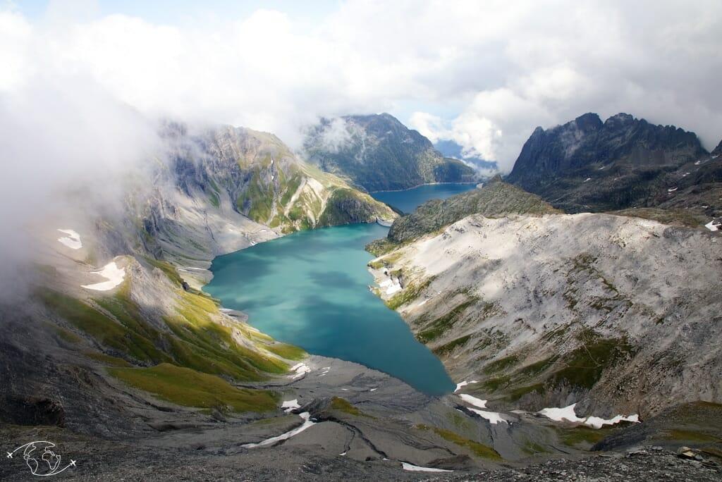 Lac d'Emosson - Vue du Col du Cheval Blanc - Tour du Ruan