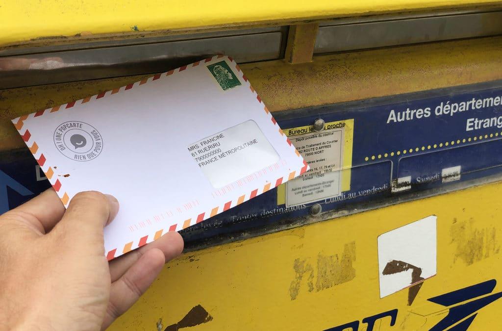 Envoyer une Carte Postale personnalisée en voyage : test de Popcarte