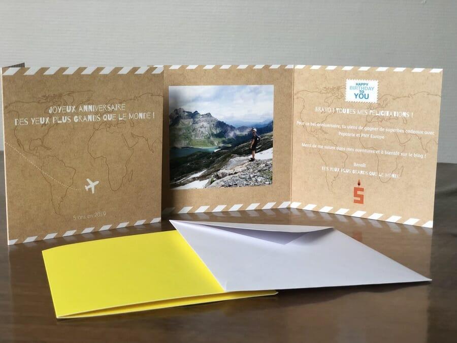 Envoyer une carte postale - Test de création sur le site Popcarte