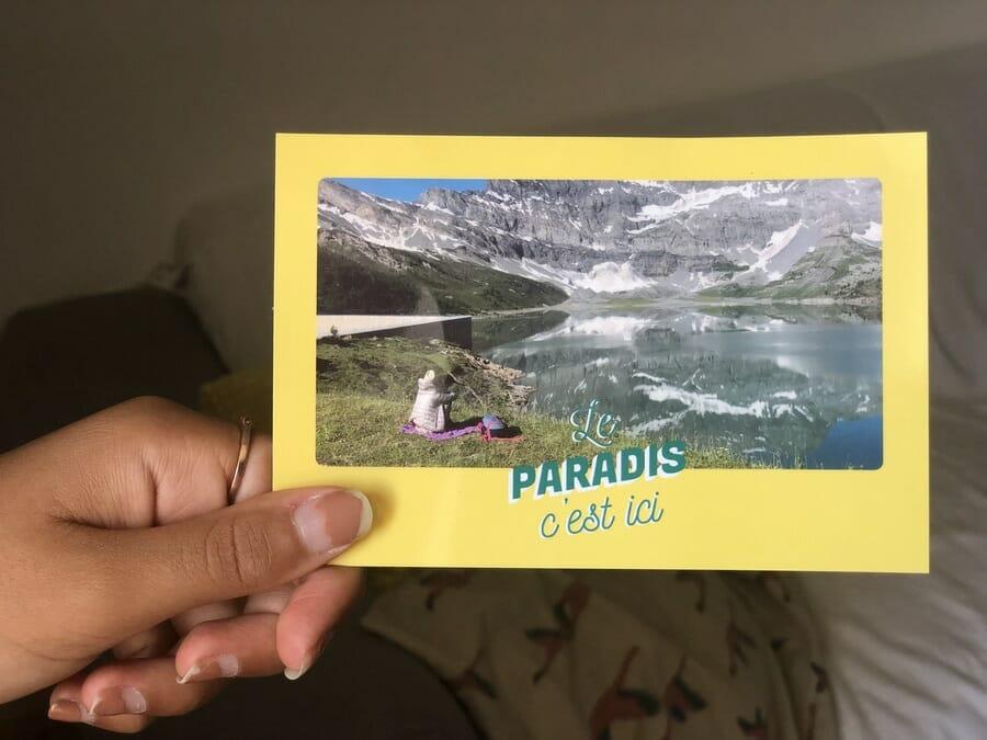 Envoyer une carte postale avec Popcarte - Le Paradis c'est ici