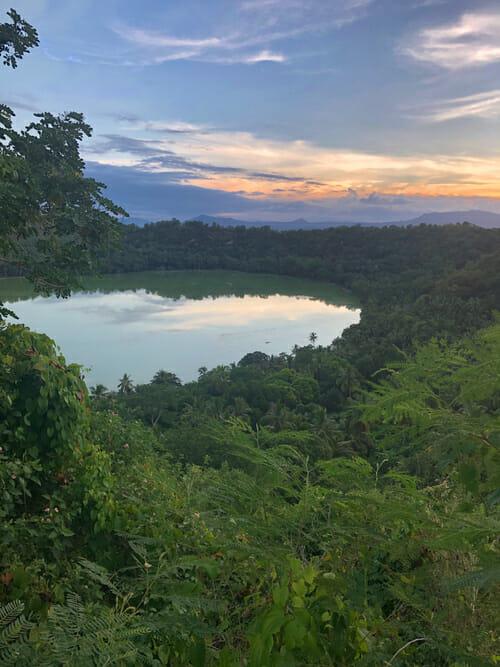 Lac Dziani au coucher du soleil_Petite-Terre_Visiter Mayotte