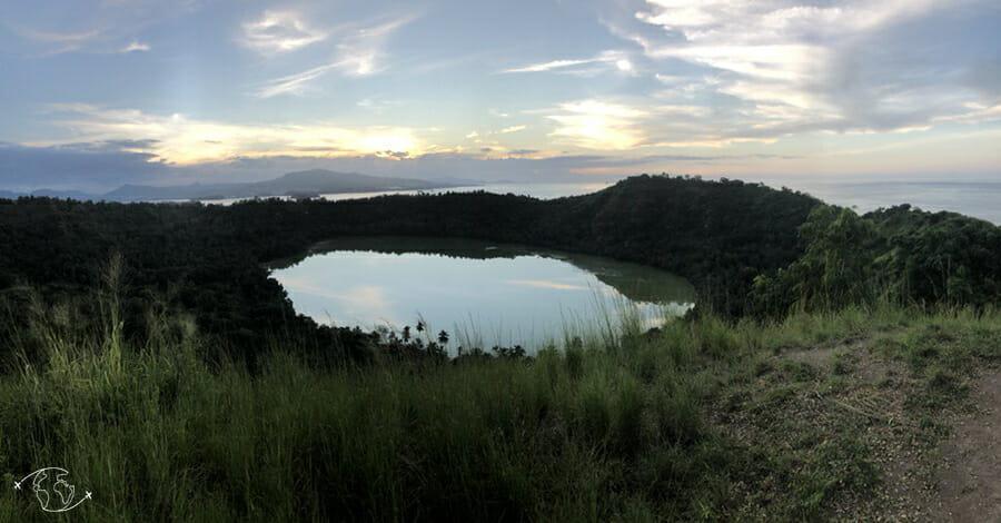 Panoramique sur le Lac Dziani - Mayotte