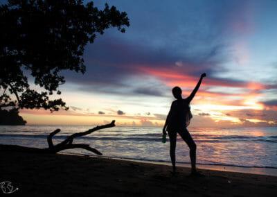 Visiter Mayotte - Coucher de soleil à Sohoa