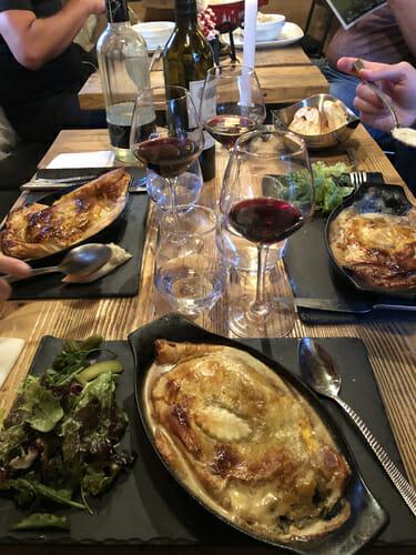 Délicieux repas au Café Comptoir de Vallorcine