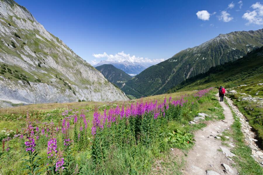 Du Col de Balme vers le Col de la Forclaz