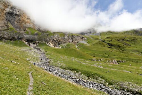 En bas du Col d'Emaney direction Col de Barberine