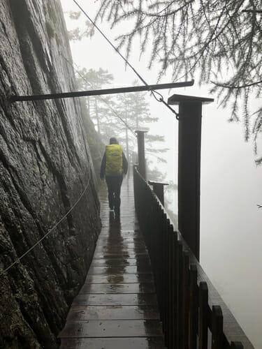 Enora dans la Gorge du Daillez - Vallée du Trient