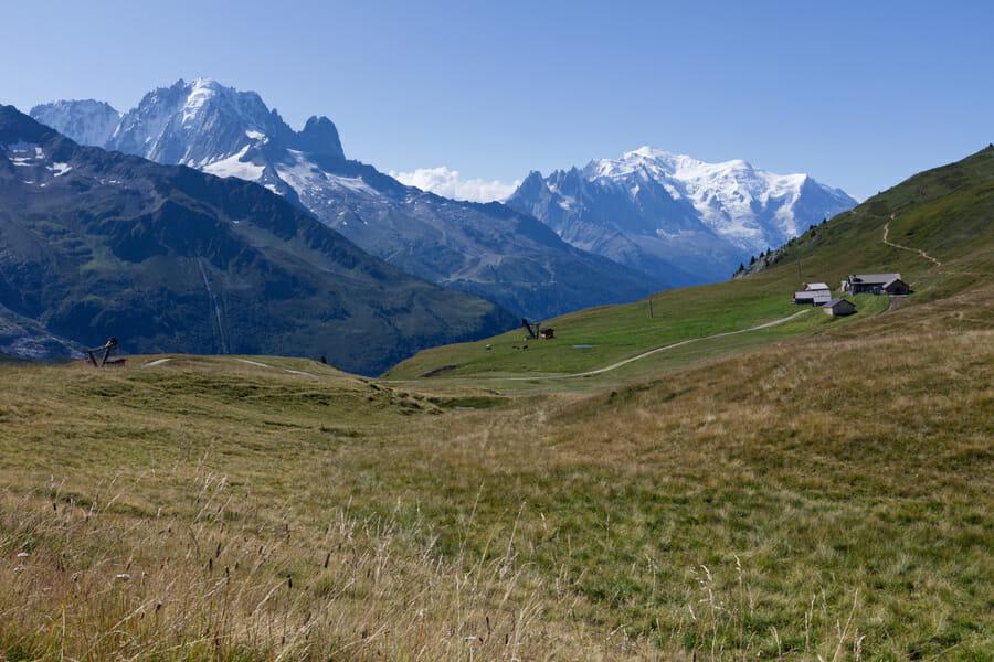 Magnifique vue sur le Mont Blanc - Col des Posettes