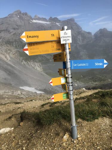 Panneau au Col d'Emaney