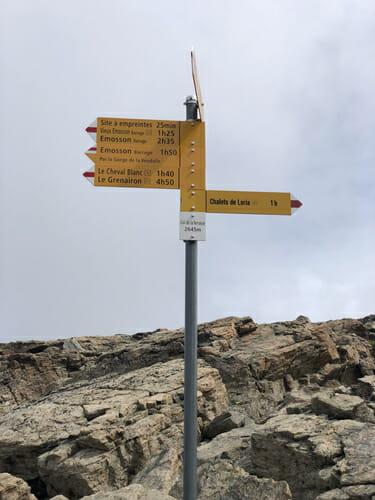 Panneau au Col de la Terrasse