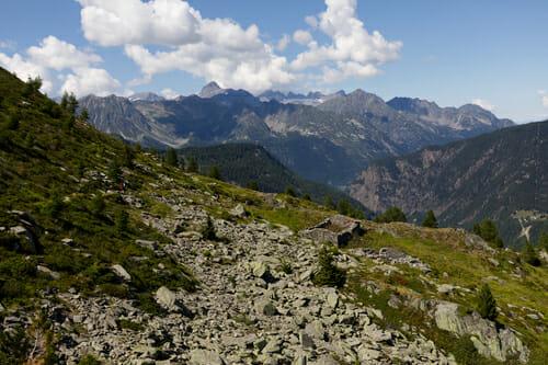 Sentier vers le Glacier du Trient