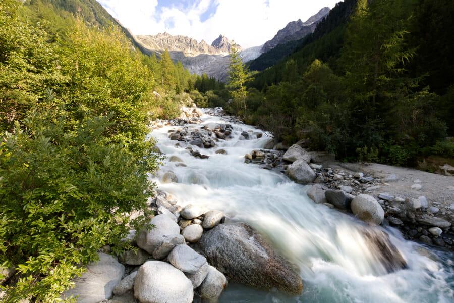 Torrent et Glacier du Trient - Tour de la Vallée du Trient