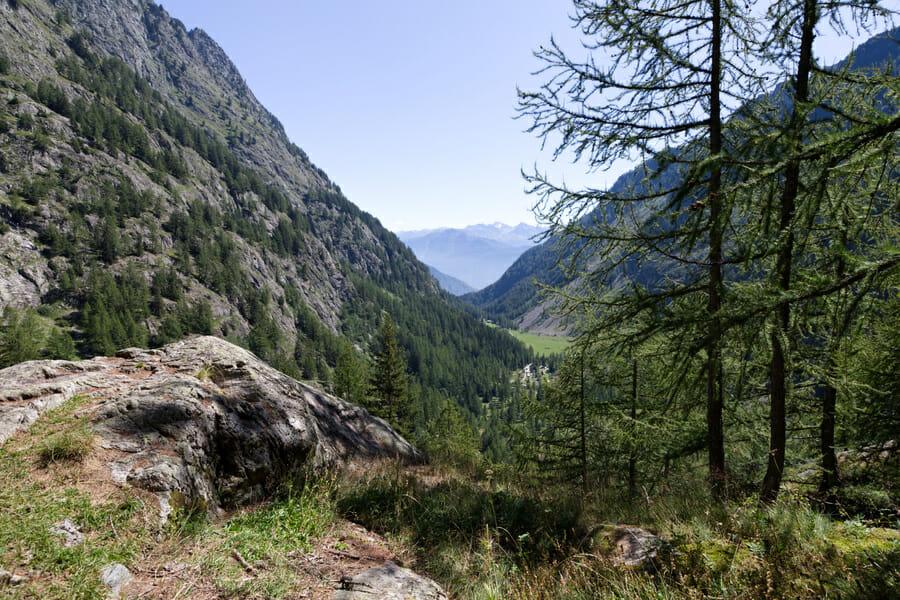 Vue de la Vallée de Vernayaz du Mont Blanc Express
